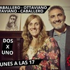 Logo Dos por uno, con Roberto Caballero y Cynthia Ottaviano.