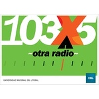 Logo FM X - Radio Universidad Nacional del Litoral