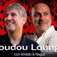Logo BOUDOU LOUNGE. Con Amado Boudou y El Bosnio